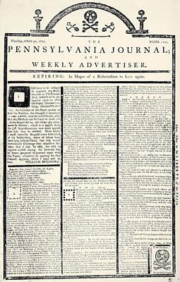 Stamp Act, 1765 Art Print