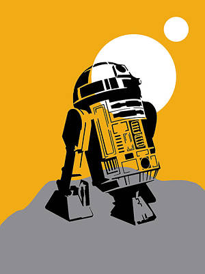 Robot Mixed Media - Star Wars R2-d2 Collection by Marvin Blaine