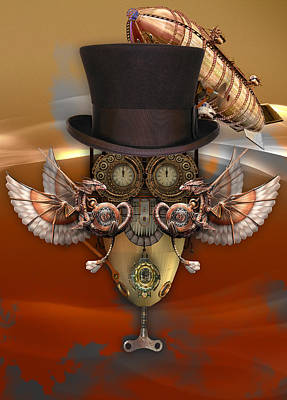 Abstract Mixed Media - Steampunk Art by Marvin Blaine