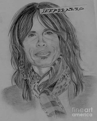 Steven Tyler Drawing - Steven Tyler Portrait by Jeepee Aero