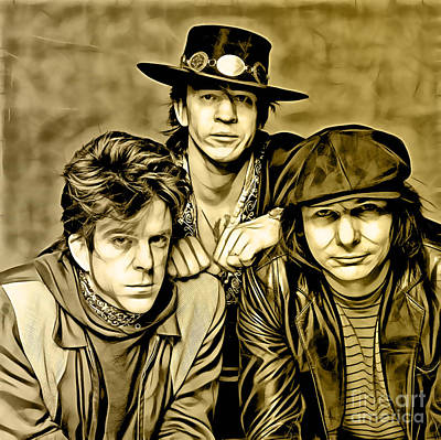 Stevie Ray Vaughan Mixed Media - Stevie Ray Vaughan And Double Trouble Collection by Marvin Blaine
