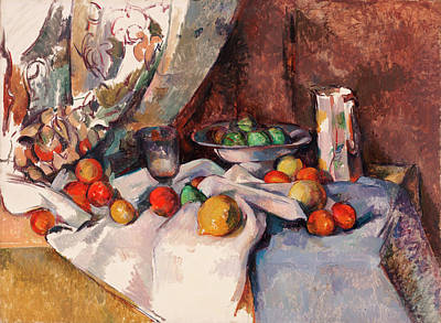 Cezanne Painting - Still Life With Apples by Paul Cezanne