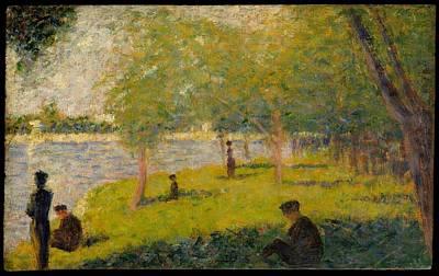 Study For A Sunday On La Grande Jatte Original by Georges Seurat