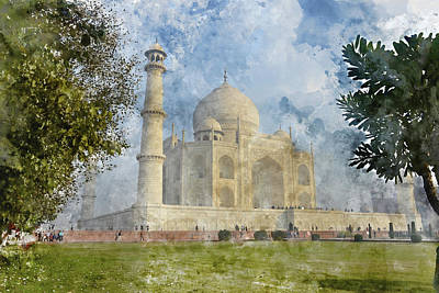 Photograph - Taj Mahal In Agra India by Brandon Bourdages