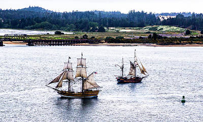 Clouds Royalty Free Images - Tall Ships Coos Bay Royalty-Free Image by Angus Hooper Iii