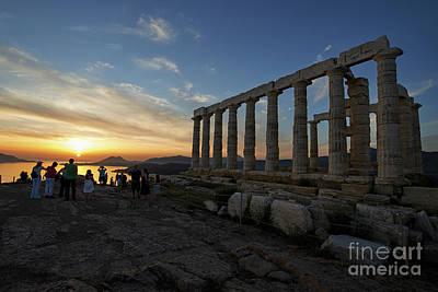 Photograph - Temple Of Poseidon During Sunset by George Atsametakis