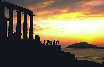 Sounion Photograph - Temple Of Poseidon In Greece by Carl Purcell