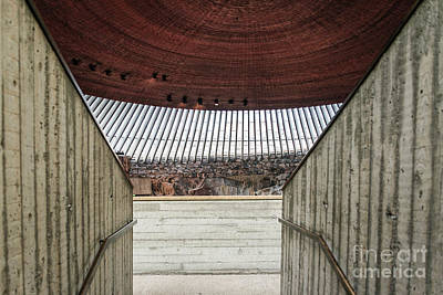 Photograph - Temppeliaukio Rock Church Famous Landmark Interior In Helsinki F by Jacek Malipan