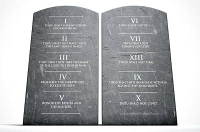 Ten Commandments Art Print by Allan Swart