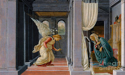 Blessed Virgin Mary Painting - The Annunciation by Sandro Botticelli