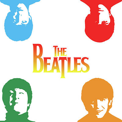 John Digital Art - The Beatles by Caio Caldas