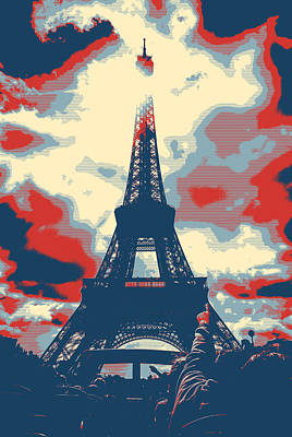 City Landscape Pyrography - The Eiffel Tower by Artistic Panda
