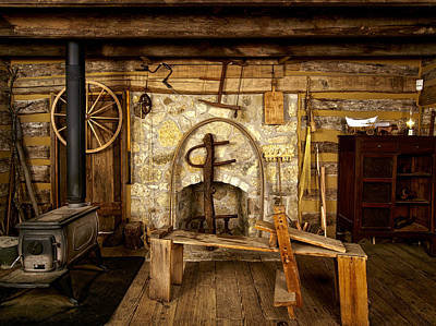 Log Cabin Interiors Photograph - The Good Old Days by Mountain Dreams