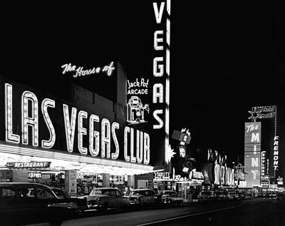 Stationary Photograph - The Las Vegas Strip by Underwood Archives