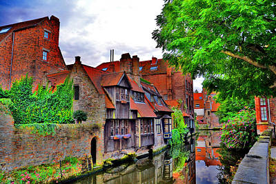 The Quiet Waters Of The Canals Of Bruges. Original