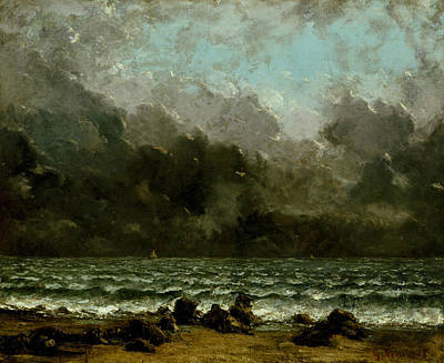 Painting - The Sea by Gustave Courbet