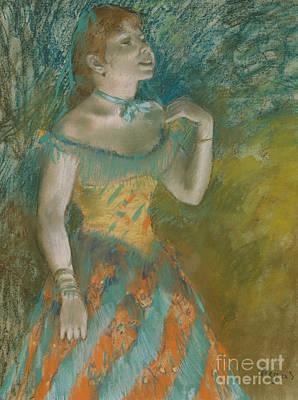 The Singer In Green Art Print