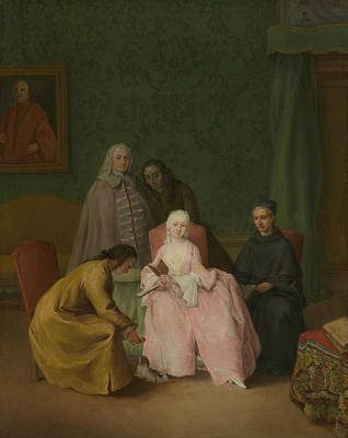 Painting - The Visit by Treasury Classics Art