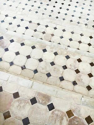 Tiled Steps Art Print by Tom Gowanlock