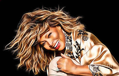 Tina Turner Collection Art Print