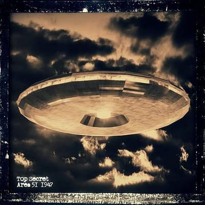 Top Secret Area 51 By Raphael Terra Art Print