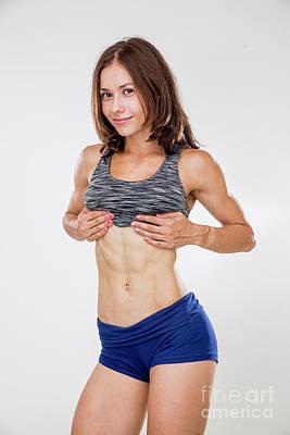 Training Women In Sport Clothing  Art Print