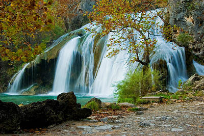Turner Falls Art Print by Iris Greenwell
