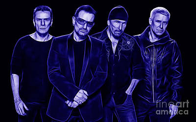 U2 Mixed Media - U2 Collection by Marvin Blaine