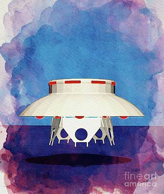 Science Fiction Paintings - Ufo by Raphael Terra