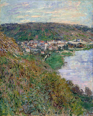 Marine Painting - View Of Vetheuil by Claude Monet
