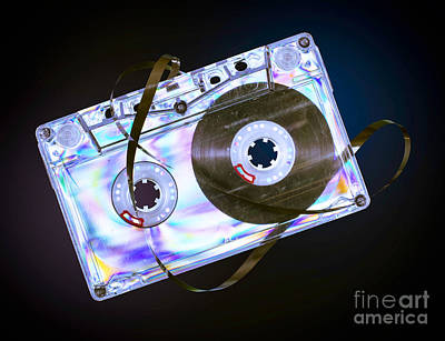 Vintage Cassette Tape Art Print by Deyan Georgiev