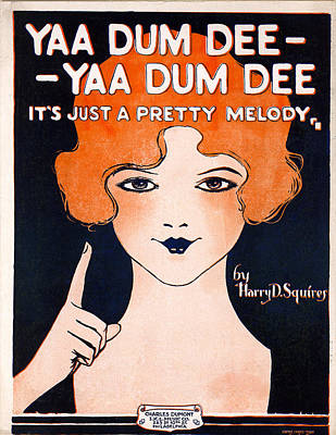 Music Royalty-Free and Rights-Managed Images - Vintage Sheet Music Cover Art by Art Phaneuf