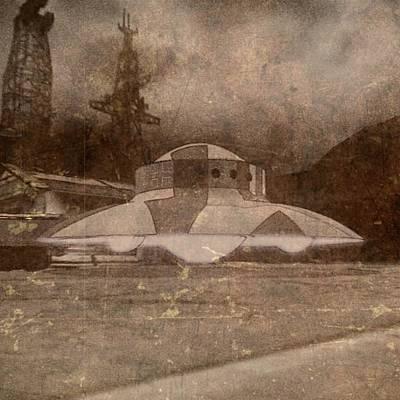 Vintage Style Ufo Alien By Raphael Terra Art Print