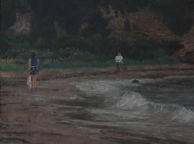 Painting - Walk At The Beach by Masami Iida