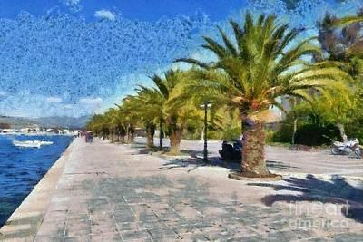 Painting - Walkway In Nafplio Town by George Atsametakis