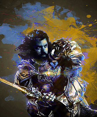 Fantasy Digital Art - Warcraft by Elena Kosvincheva