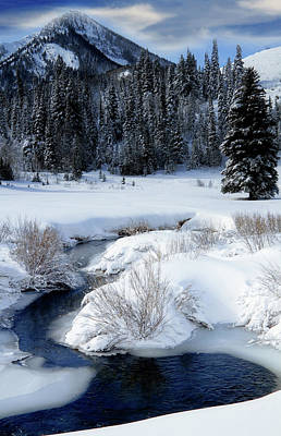 Photograph - Wasatch Mountains In Winter by Douglas Pulsipher