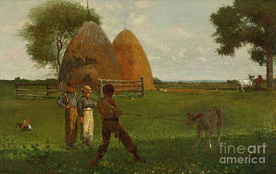 Painting - Weaning The Calf by Winslow Homer