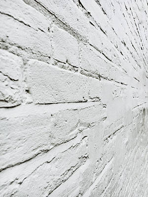 Solid Photograph - White Brick Wall by Tom Gowanlock
