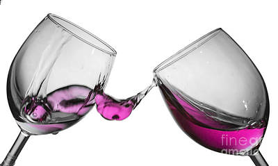 Valentines Photograph - Wine Glass Fluid Motion by Sebastien Coell