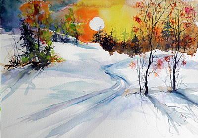 Winter Landscape Painting - Winter by Kovacs Anna Brigitta