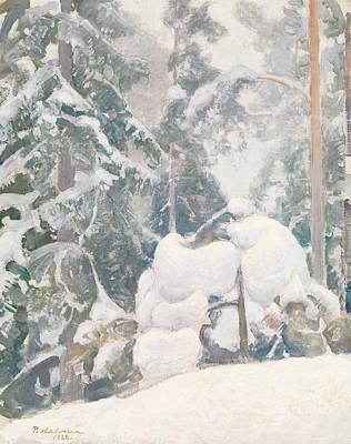 Pekka Wall Art - Painting - Winter Landscape by Pekka Halonen