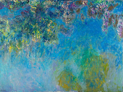 Waterlilies Painting - Wisteria by Claude Monet