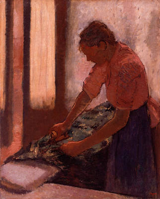 Impressionism Painting - Woman Ironing by Edgar Degas