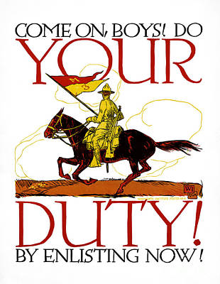 Photograph - World War I, Poster.  by Granger