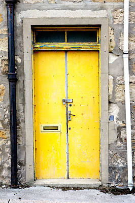 Metal Photograph - Yellow Door by Tom Gowanlock