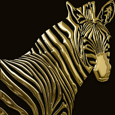 Mixed Media - Zebra Collection by Marvin Blaine
