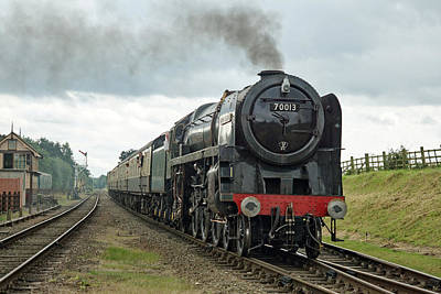 Photograph - 70013 Arriving At Quorn by David Birchall
