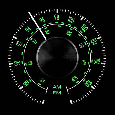 Photograph - 70s Fm Tuner Dial by Jim Hughes