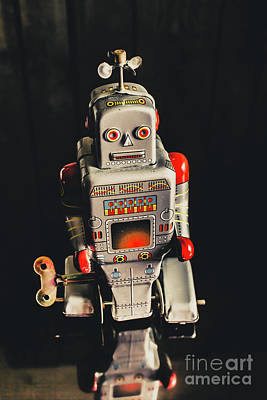 Amusing Photograph - 70s Mechanical Android Bot  by Jorgo Photography - Wall Art Gallery